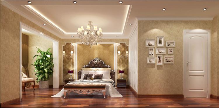 卧室图片来自沙漠雪雨在金色漫香苑简欧风格效果图的分享