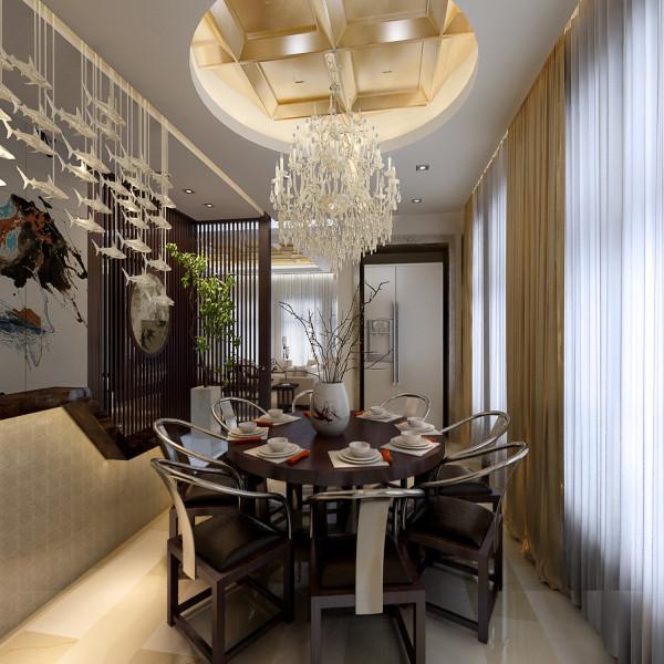 以现代的装饰手法和家具与简化的中式吊顶,结合来呈现亦古亦今的空间氛围。成为时尚与古典的柔媚结合。