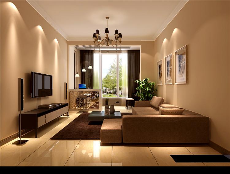 现代简约风 装修案例 装修效果图 K2百合湾 一层带地下 客厅图片来自高度国际装饰安妮在K2百合湾现代简约风格的分享