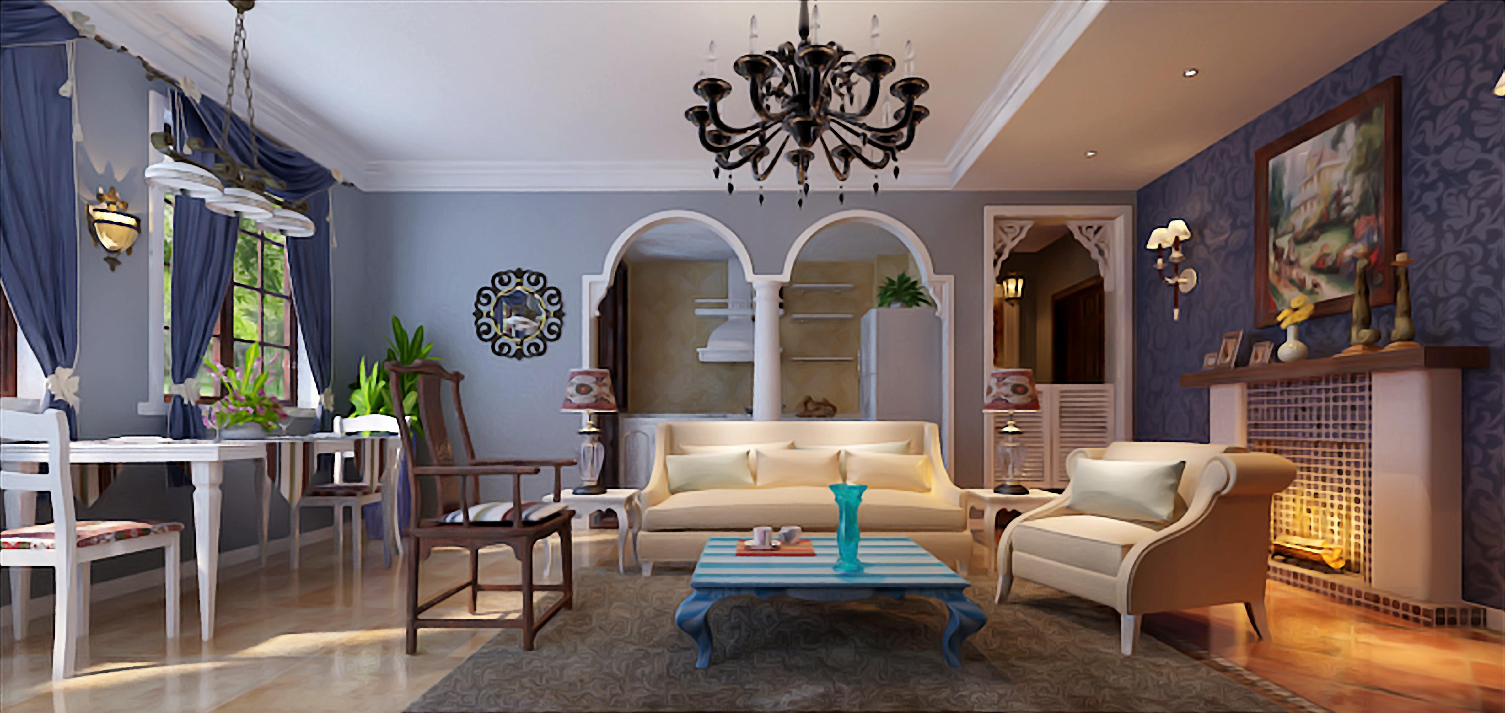 客厅图片来自上海华埔装饰郑州西区运营中心在思念果岭的分享