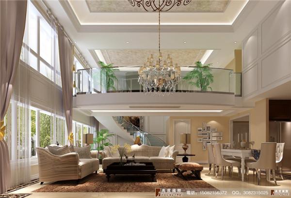 龙湖悠山郡餐厅客厅看楼梯细节效果图---成都高度国际装饰设计