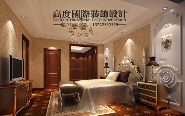 【卧室设计】典雅而华丽,平和而富有内涵的气韵,营造了一个舒适的休息环境。
