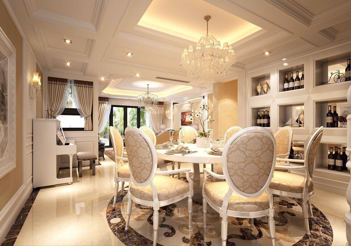 简约 欧式 别墅 餐厅图片来自常青树装饰公司在阳光城市的分享