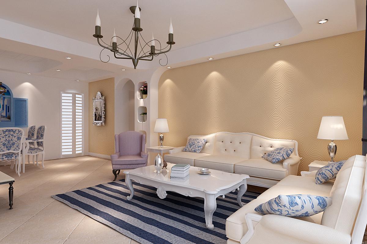 西安日升装 日升装饰 客厅图片来自西安日升装饰在高科·尚郡133平米地中海的分享