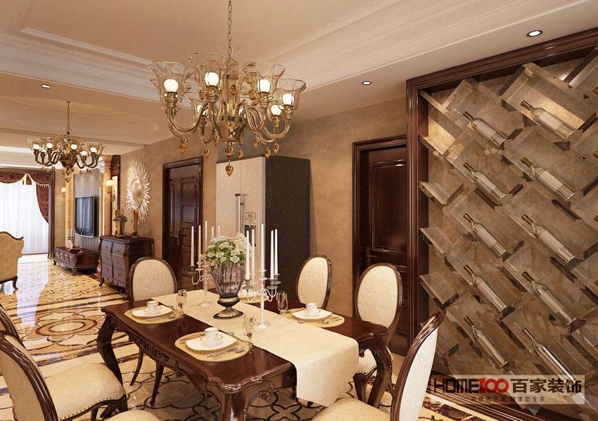 大户型 收纳 80后 小资 欧式 餐厅图片来自百家装饰杨乐乐在中海城阿尔卑斯160欧式的分享