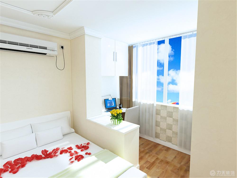 简约 一居 白领 收纳 80后 小资 卧室图片来自阳光力天装饰在力天装饰-佳园北里27㎡的分享