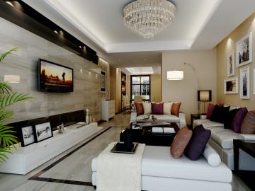世纪星城三居室装修现代风格设计