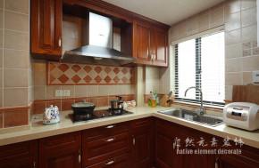 田园 暖色 温馨 三居 厨房图片来自自然元素装饰在温馨的暖色系田园风格的分享