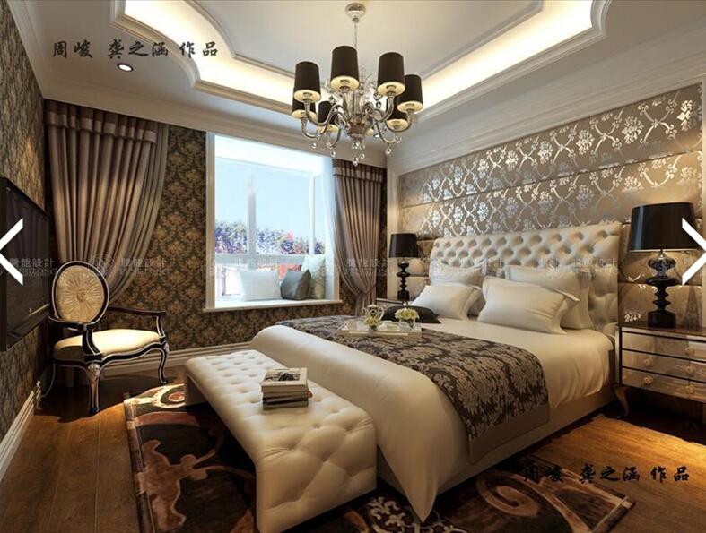嘉定别墅 别墅装修 别墅设计 美式古典 腾龙设计师 周峻作品 卧室图片来自孔继民在嘉定别墅美式古典风格设计方案的分享