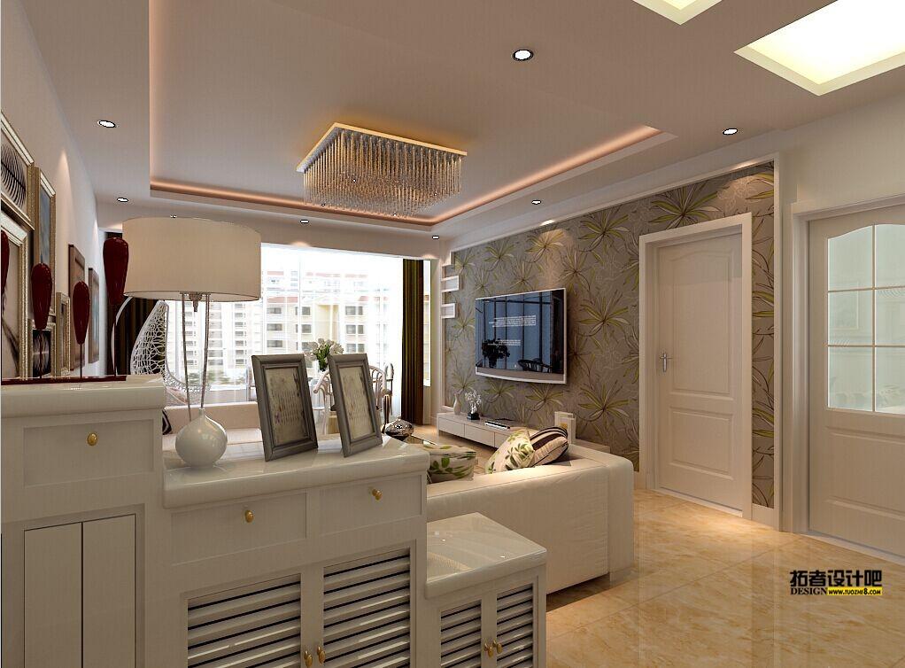 客厅图片来自北京二手房装修在现代隐形门客厅的分享