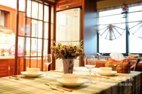 田园 暖色 温馨 三居 餐厅图片来自自然元素装饰在温馨的暖色系田园风格的分享