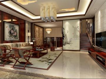 昆山别墅新中式风格设计方案