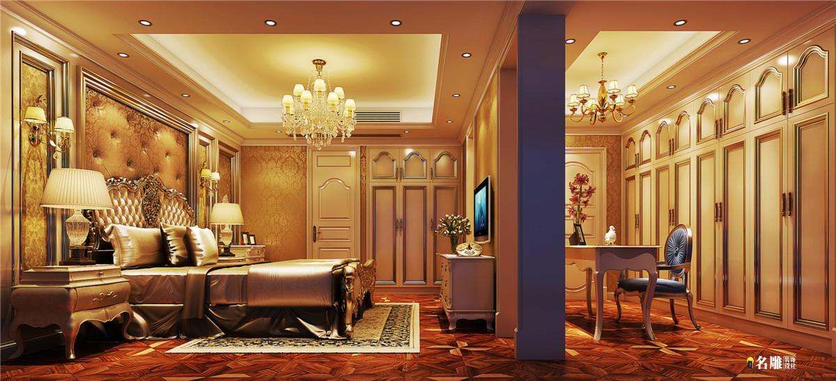 欧式 别墅 复式 300平 欧式豪宅 名雕装饰 深房传麒山 卧室图片来自名雕装饰设计在深房传麒山欧式别墅的分享