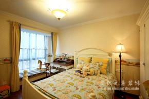 田园 暖色 温馨 三居 卧室图片来自自然元素装饰在温馨的暖色系田园风格的分享