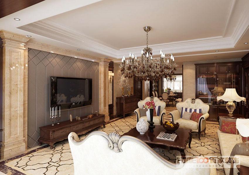 大户型 收纳 80后 小资 欧式 客厅图片来自百家装饰杨乐乐在中海城阿尔卑斯160欧式的分享