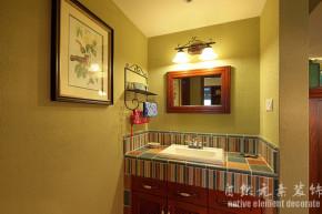田园 暖色 温馨 三居 卫生间图片来自自然元素装饰在温馨的暖色系田园风格的分享
