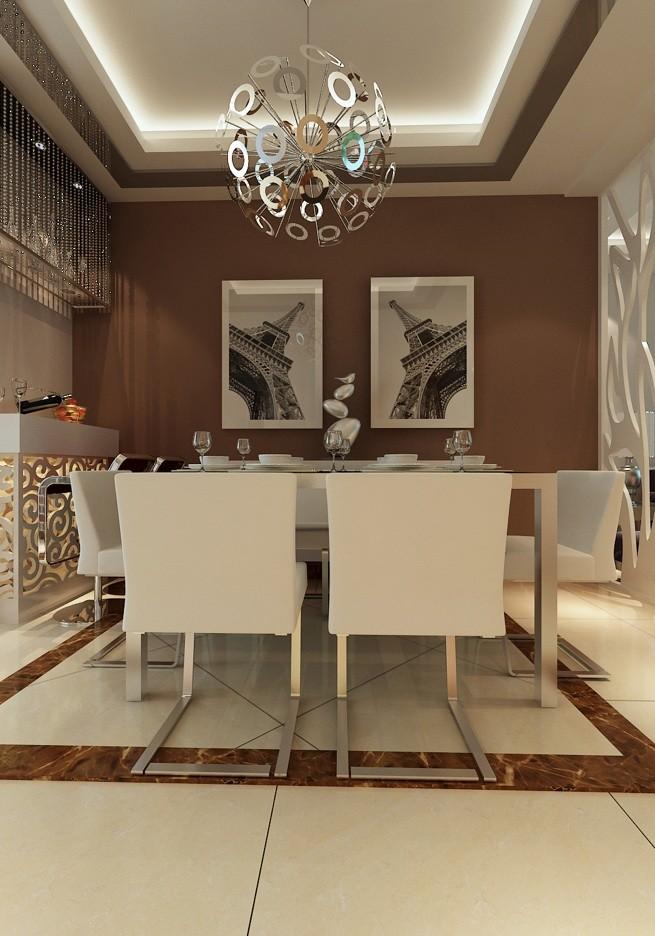 龙湖御景 三居 现代 餐厅图片来自郑州实创装饰啊静在龙湖御景129平现代三居的分享