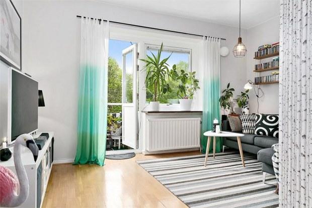 一居 北欧 客厅 餐厅 儿童房 卧室 厨房 客厅图片来自实创装饰晶晶在尼德兰花园60平北欧公寓清新设计的分享