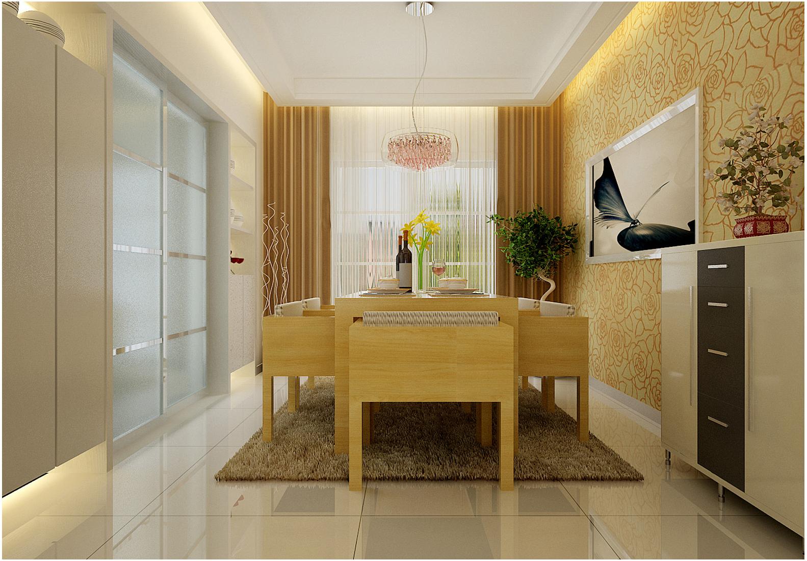 大观国际 现代简约 两居 餐厅图片来自郑州实创装饰啊静在大观国际现代简约两居的分享