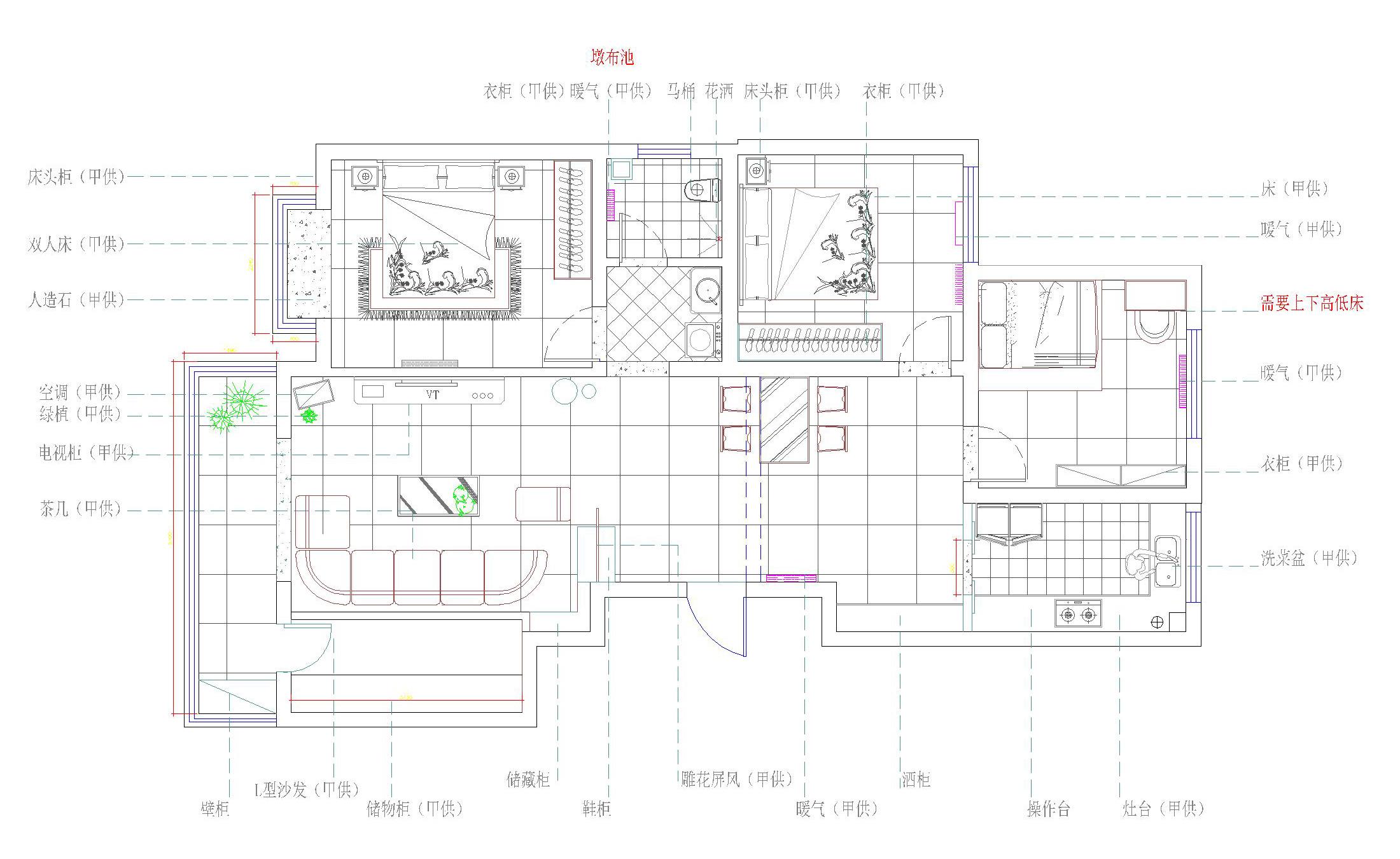 大城小爱 中式 三居 户型图图片来自郑州实创装饰啊静在大城小爱148平中式三居的分享
