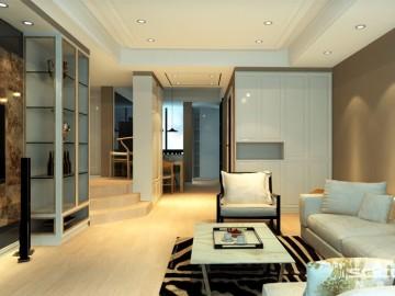 保利叶之林两居室现代简约风格