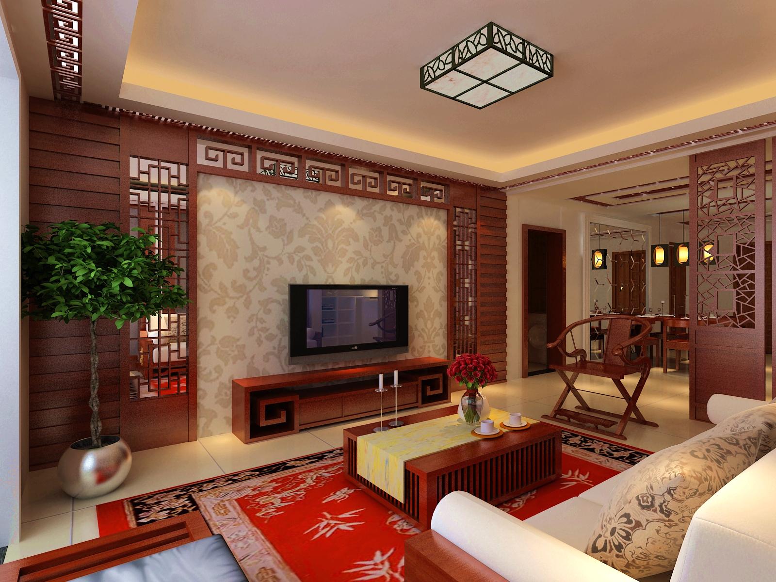 大城小爱 中式 三居 客厅图片来自郑州实创装饰啊静在大城小爱148平中式三居的分享