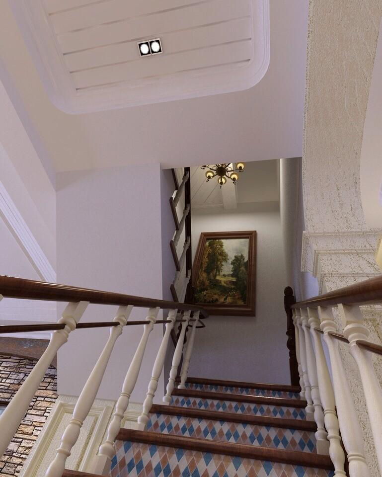 简约 欧式 田园 混搭 二居 三居 别墅 白领 旧房改造 楼梯图片来自沪上名家-巩光辉在银基王朝地中海风格的分享