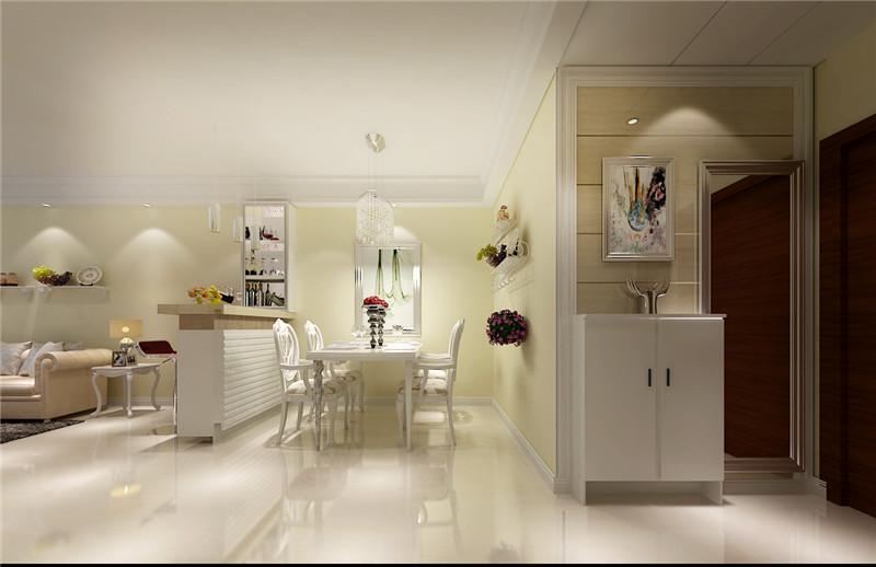 大观国际 混搭 简约 北美 三居 餐厅图片来自郑州实创装饰啊静在大观国际100平简约北美三居的分享