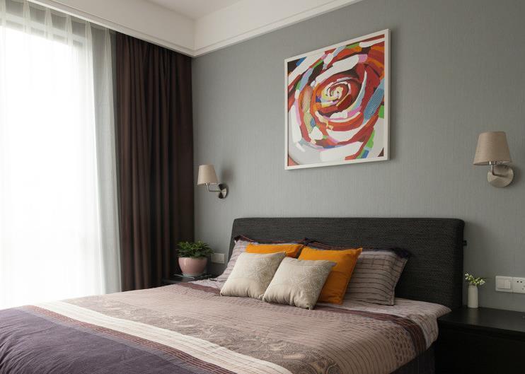 简约 现代 二室一厅 色彩大胆 卧室图片来自佰辰生活装饰在89平现代简约两室一厅的分享
