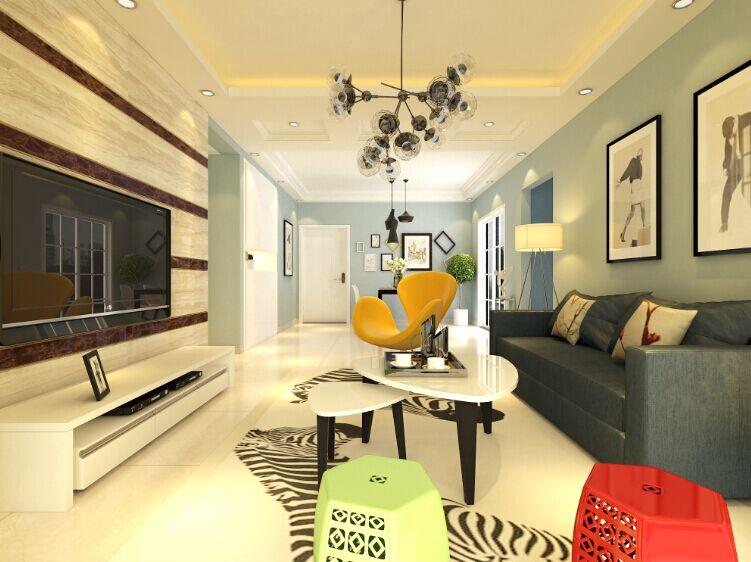 丹石锦园 丹石街区 三居室 客厅图片来自郑州实创装饰-杨淑平在丹石街区四期118平简约风情设计的分享