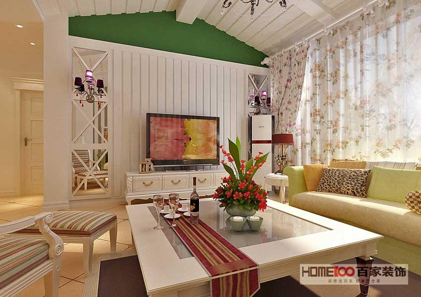 欧式 三居 百家装饰 效果图 装修公司 客厅图片来自百家装饰小帅在江户雅致 150平欧式田园风格的分享