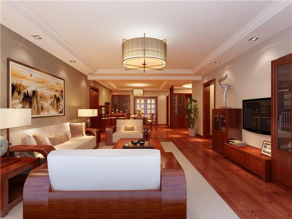 客厅图片来自西安日升装饰在紫薇曲江意境168平米简约中式的分享