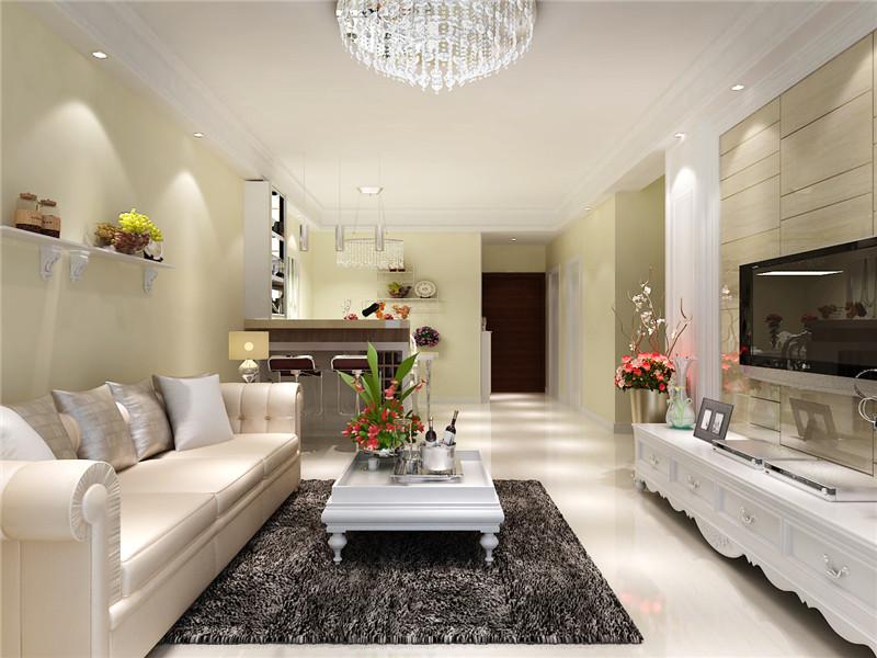 大观国际 混搭 简约 北美 三居 客厅图片来自郑州实创装饰啊静在大观国际100平简约北美三居的分享