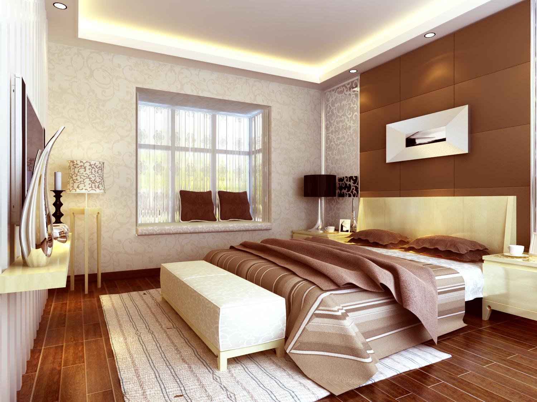 大观国际 现代简约 两居 卧室图片来自郑州实创装饰啊静在大观国际现代简约两居的分享