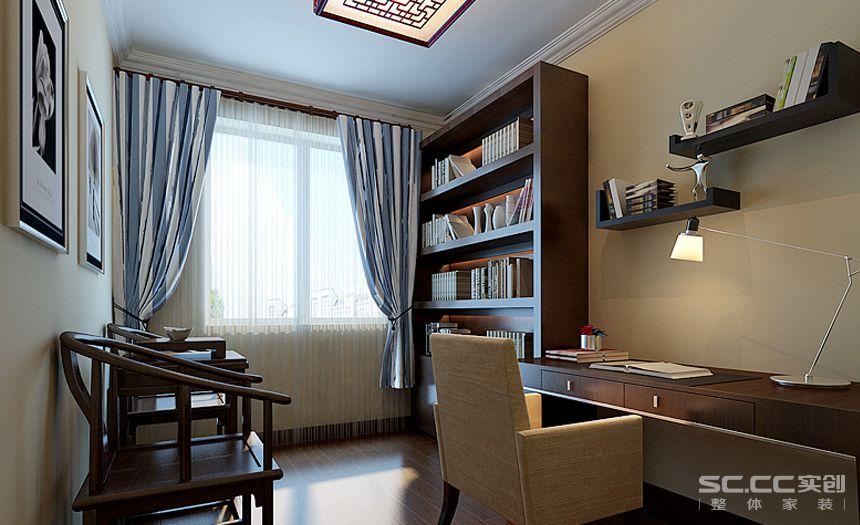 简约 书房图片来自实创家居装饰在新中式三居的分享