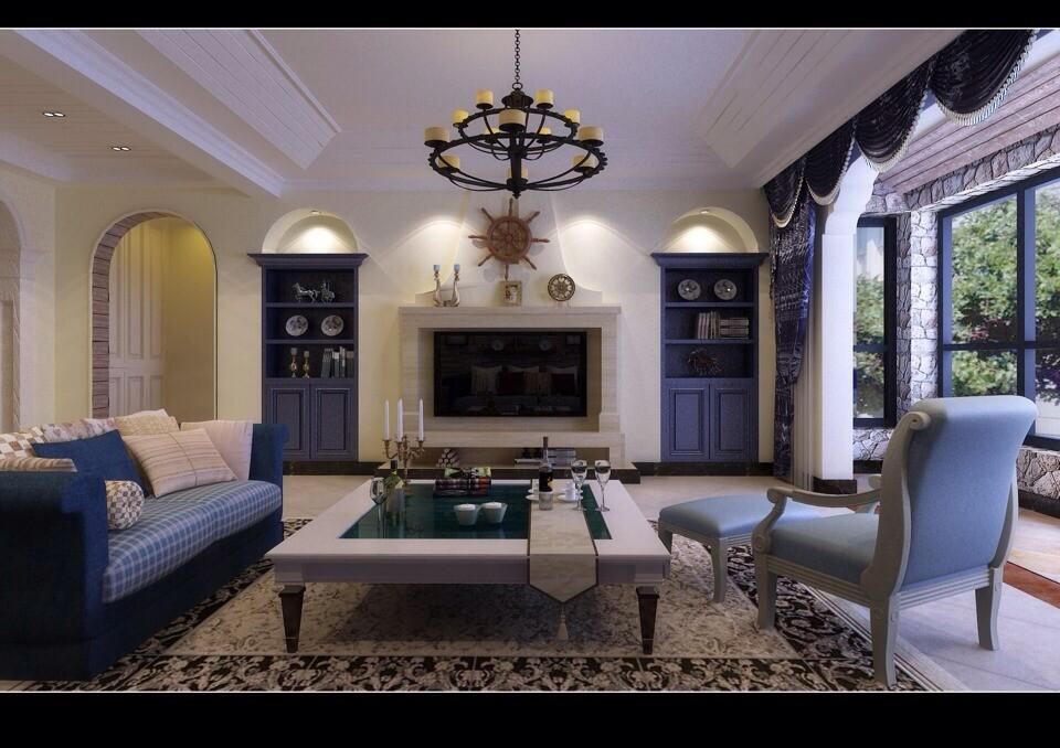 简约 欧式 田园 混搭 二居 三居 别墅 白领 旧房改造 客厅图片来自沪上名家-巩光辉在银基王朝地中海风格的分享