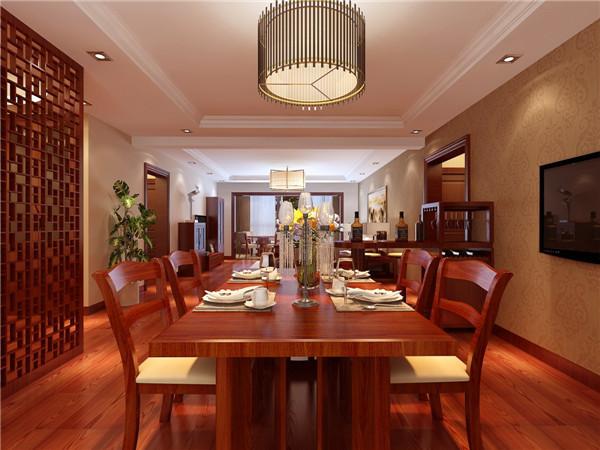 餐厅图片来自西安日升装饰在紫薇曲江意境168平米简约中式的分享
