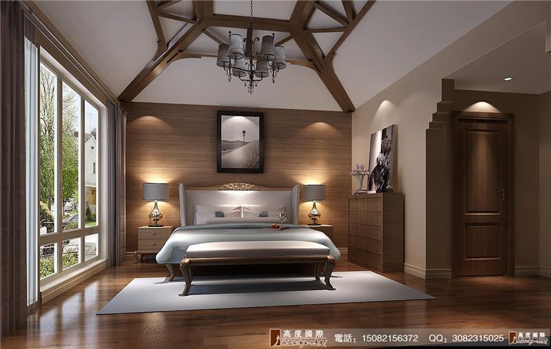 高度国际 别墅装修 卧室图片来自成都高端别墅装修瑞瑞在后现代的fell的分享