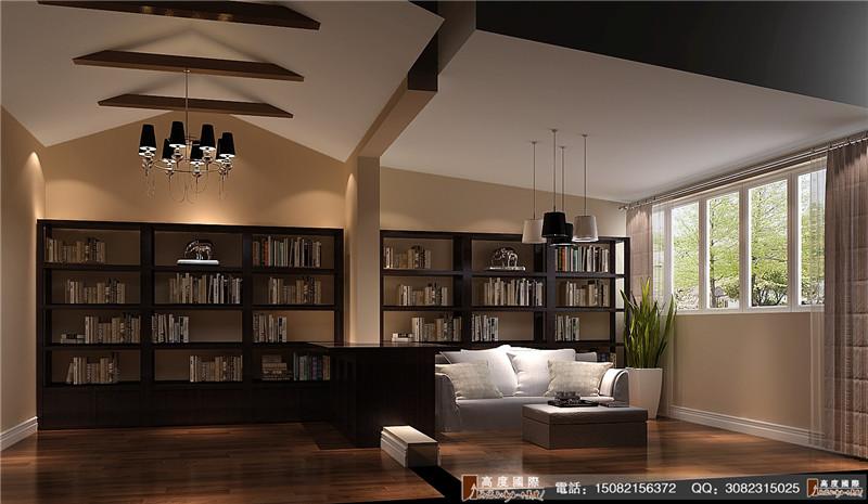 高度国际 别墅装修 书房图片来自成都高端别墅装修瑞瑞在后现代的fell的分享