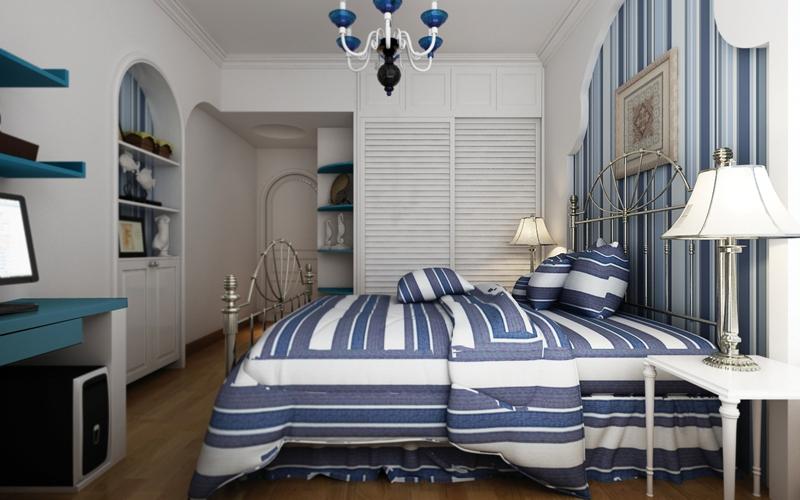 嘉年华装饰 广电江湾 地中海 98平 三居室 卧室图片来自武汉嘉年华装饰在广电江湾新城-地中海的分享
