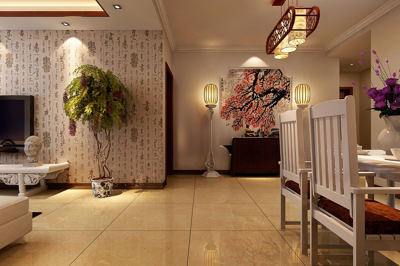 丹石街区 三居 中式 家装 玄关图片来自郑州实创装饰啊静在丹石街区120平简中三居的分享