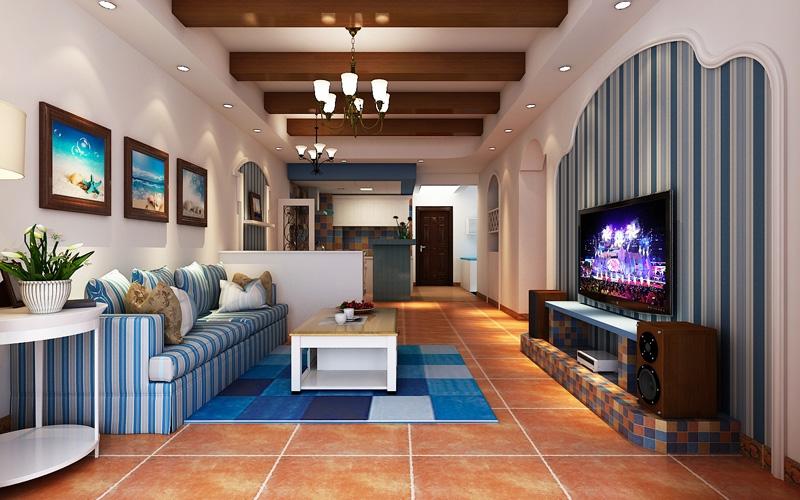嘉年华装饰 广电江湾 地中海 98平 三居室 客厅图片来自武汉嘉年华装饰在广电江湾新城-地中海的分享