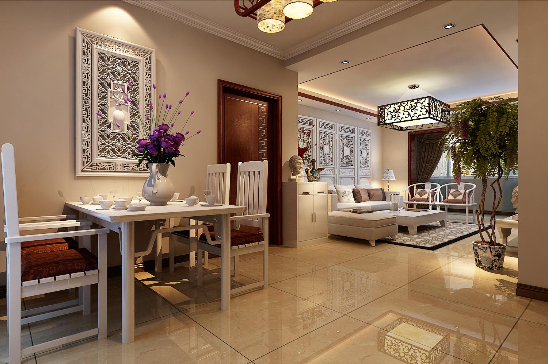 丹石街区 三居 中式 家装 餐厅图片来自郑州实创装饰啊静在丹石街区120平简中三居的分享