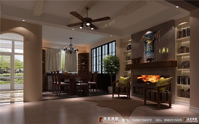 高度国际 别墅装修 餐厅图片来自成都高端别墅装修瑞瑞在后现代的fell的分享