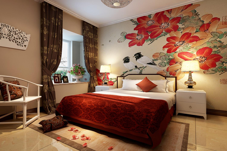 丹石街区 三居 中式 家装 卧室图片来自郑州实创装饰啊静在丹石街区120平简中三居的分享
