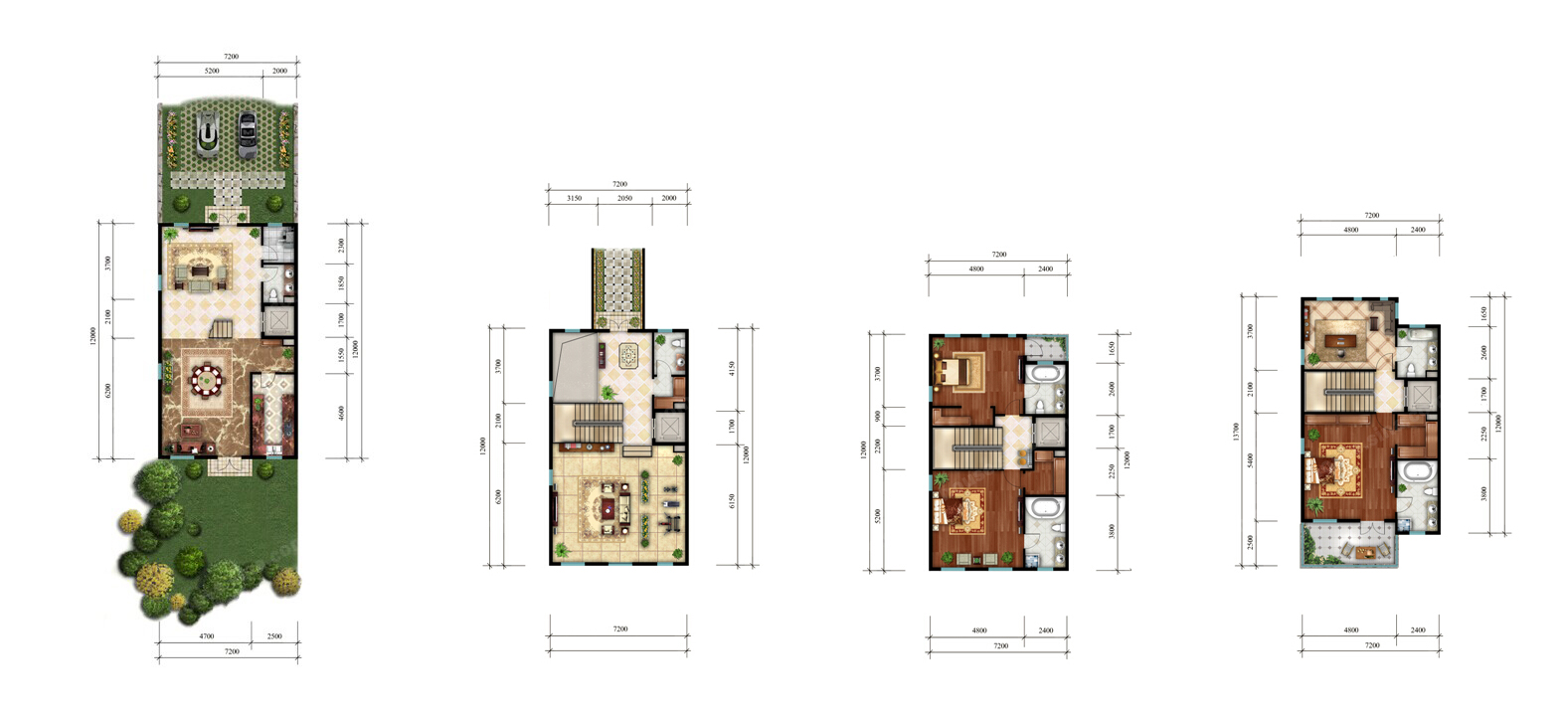 简约 欧式 户型图图片来自紫禁尚品设计师李擎在红廷别墅简欧风格的分享