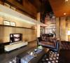客厅装修由于业主对的需要,我们吊顶采用了钢化玻璃,这样可以增添空间感。
