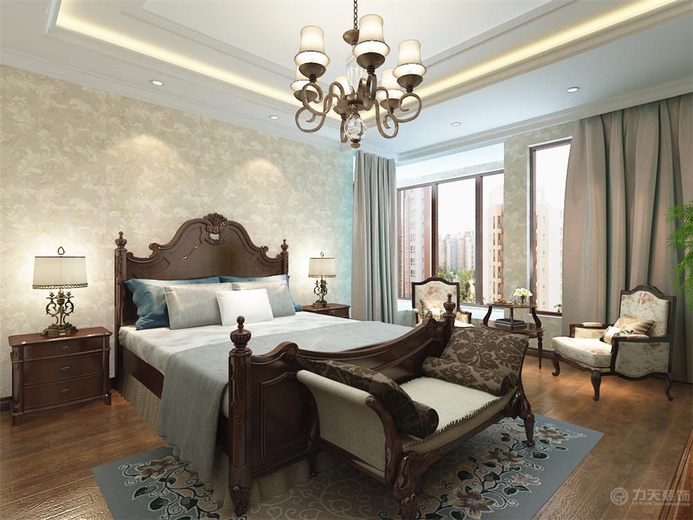 美式 三居 白领 收纳 80后 小资 卧室图片来自阳光力天装饰在力天装饰-华城领秀180㎡的分享