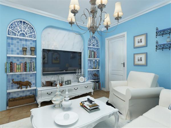 本案为平遥里一室一厅一厨一卫60平米地中海风格户型。