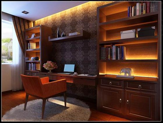中式 三居 简约 混搭 家装 书房图片来自郑州实创装饰啊静在电子信息学院175平简约中式三居的分享